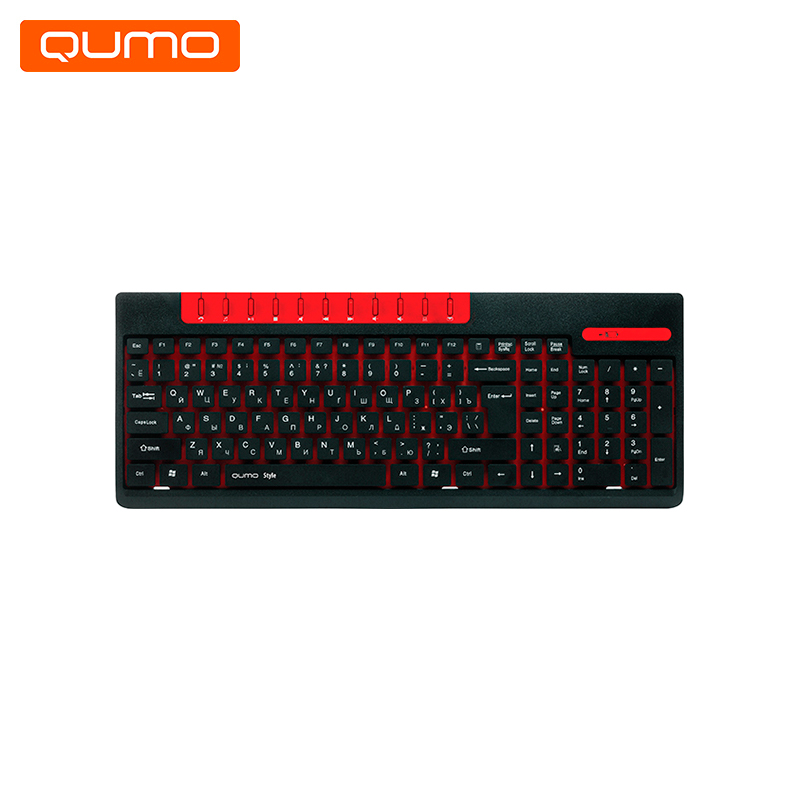 Gaming Keyboard wireless Qumo Style K06 gaming headset qumo jollyroger ghs0010