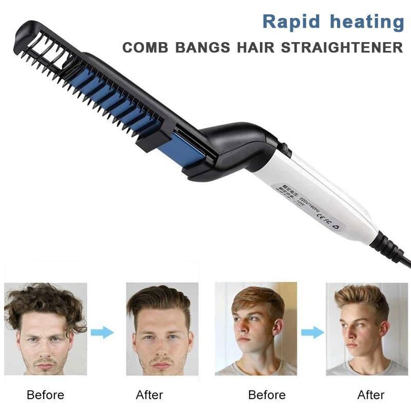 Multifunctional Brush Beard Straightener With Hair Comb Straightening Hair Styler For Men 10