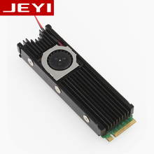 JEYI Cooling Warship Fan Thermal Conductivity Silicon Wafer Heatsink NVME NGFF M.2 2280 SSD Aluminum Sheet