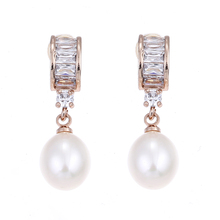 Lureme Luxury Cubic Zircon with Freshwater Pearl Drop Earrings for Women and Girls Wedding Party Jewelry Earing (er005424)