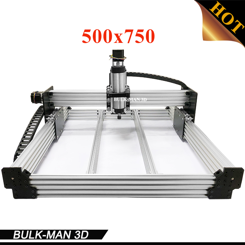 WorkBee CNC Complete Engraving Machine, WorkBee CNC Router Machine Full kit with Spindle Inverter, Electronic Combos 500*750mm workbee cnc aluminum plates kit lead screw driven and belt version for workbee cnc router machine cnc engraving machine