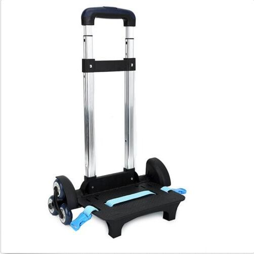 3 Wheel Fold Pull Rod Bracket Roll Cart Trolley School Bag Easy Climb The Stairs>>>> Fre ...