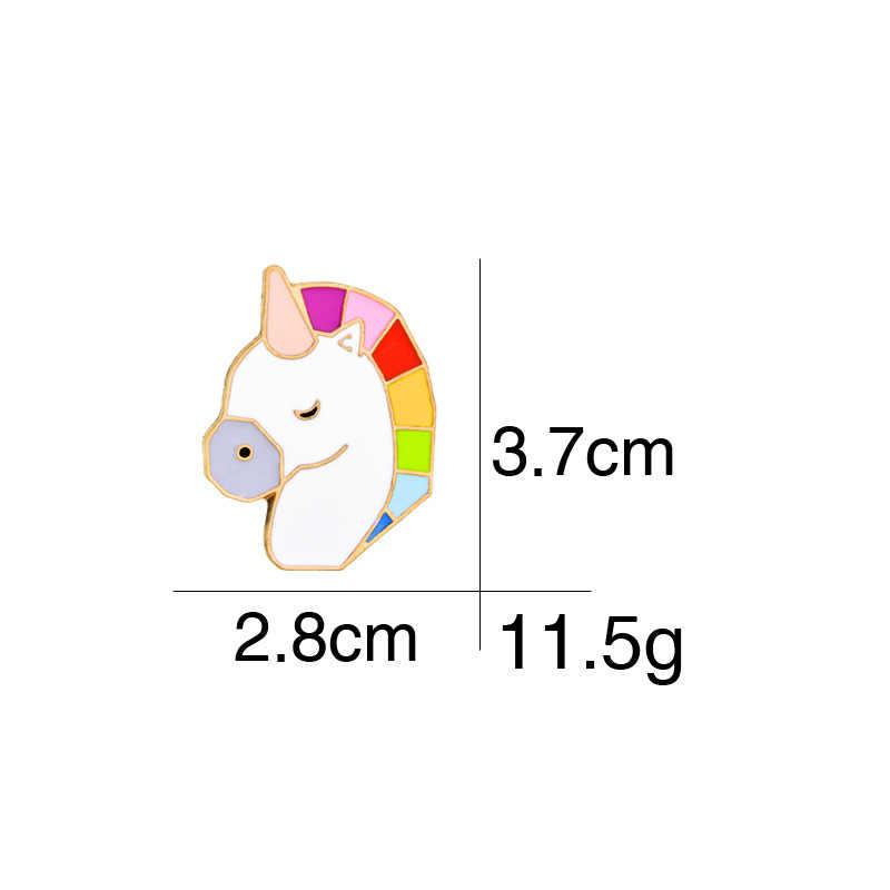 2018 Sản Phẩm Mới Sáng Tạo Màu Horse Head Huy Hiệu Trâm Phù Hợp Với Thời Trang Túi Áo Sơ Mi Phụ Kiện Cho Phụ Nữ và Nam Giới Trang Sức