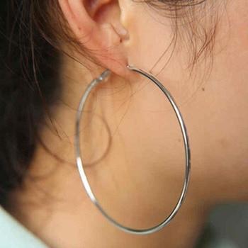 Women's Big Circles Hoop Earrings 1