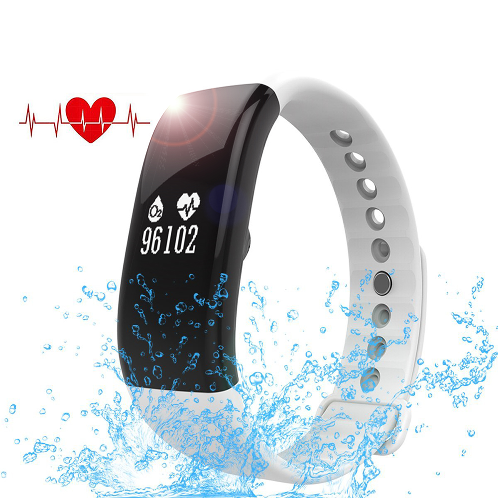 XINDOZ Fitness Tracker HR- Heart Rate Blood Pressure Monitor - Bluetooth Wireless Smart Bracelet Sleep monitor N10