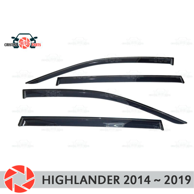 Дефлектор окон для Toyota Highlander 2014 ~ 2018, дефлектор от дождя, защита от грязи, аксессуары для украшения автомобиля, Молдинг