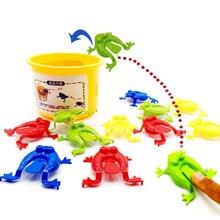 13 шт. детская игровая игрушка прыгающие лягушки ABS детская пластиковая игрушка обучающая развивающая лягушка детские игрушки для детей подарок