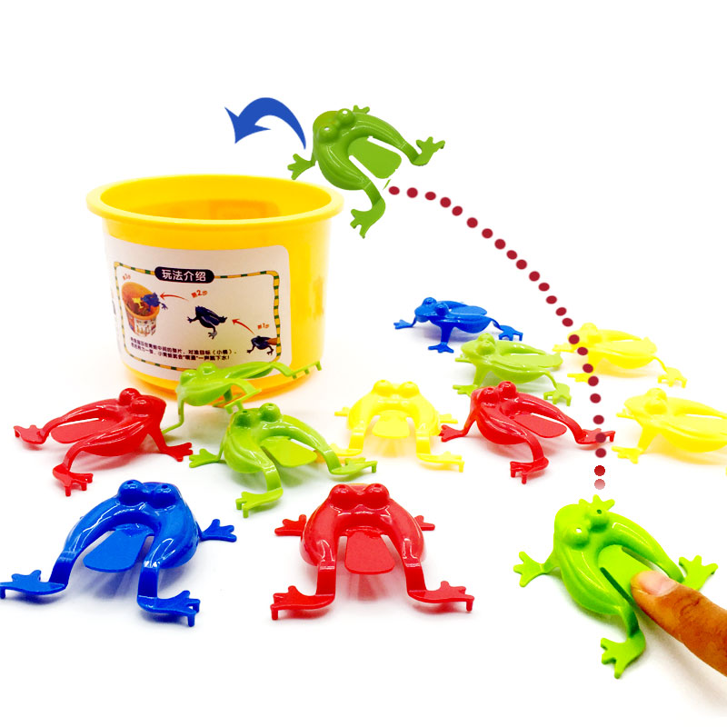 13 Pcs Kids Game Toy Jumping Frogs ABS Baby Plastic Toy Learning Education Frog Kids Toys For Children Gift
