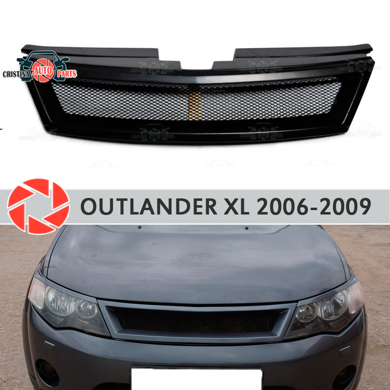 Radiator Grille for Mitsubishi Outlander XL 2006-2009 plastic ABS accessories protection car styling decoration tuning