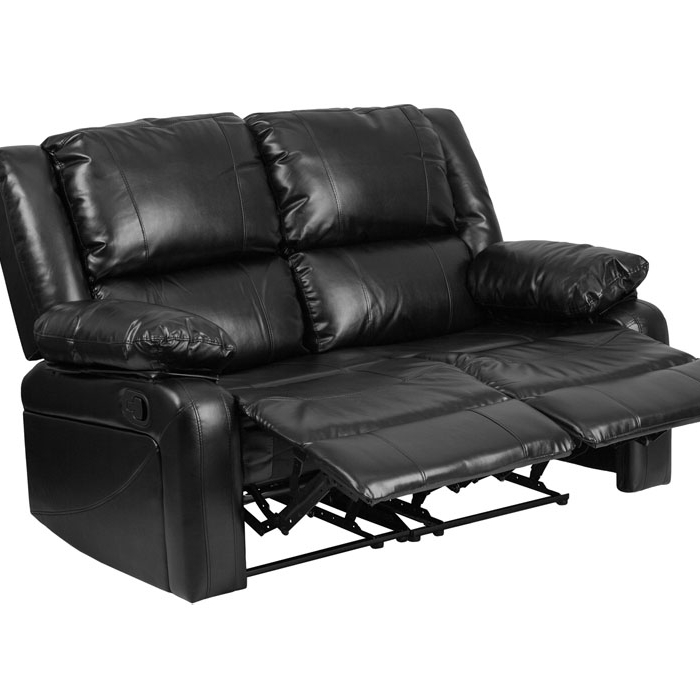 Flash Furniture Harmony Series Black Leather Loveseat with Two Built-In Recliners fifth harmony acapulco