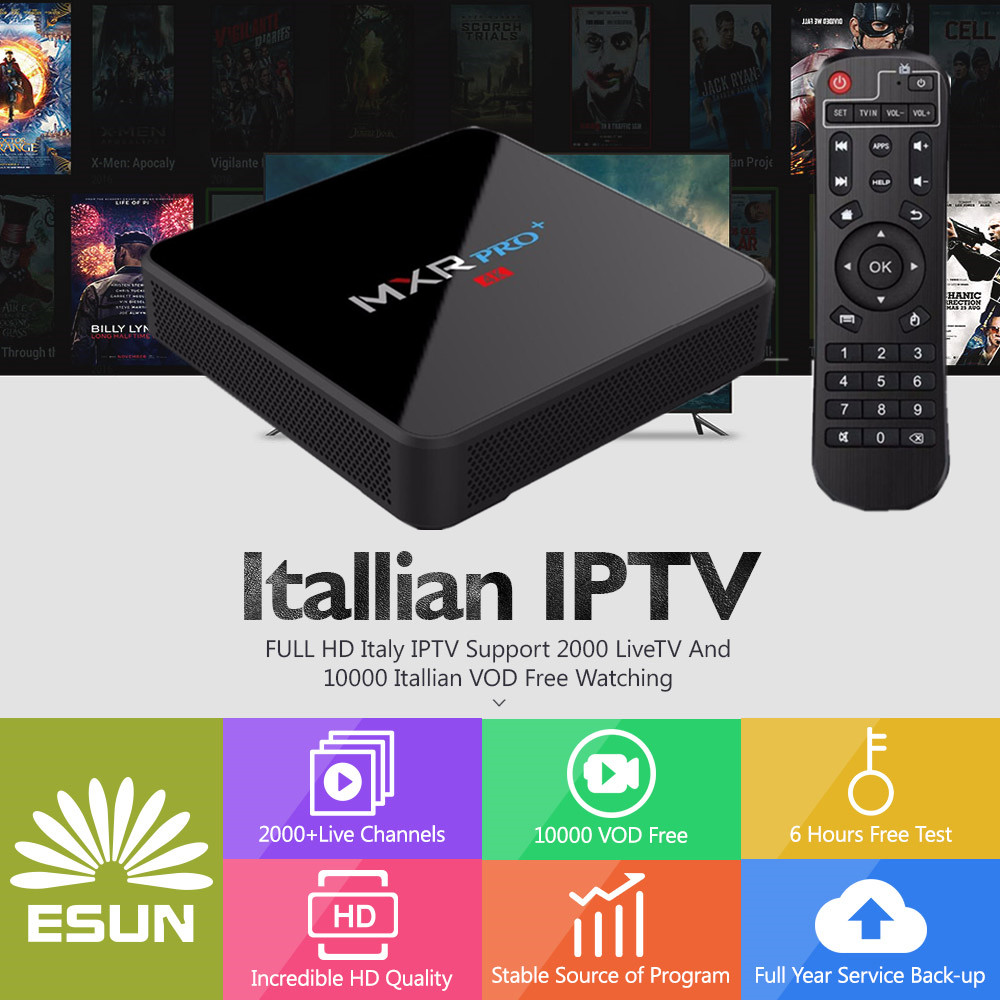 MXR PRO+ With 1 Year Italy IPTV Box Configured Europe IPTV Italy IPTV Albania ex-yu channels BOX Set Top Box italy iptv a95x pro voice control with 1 year box 2g 16g italy iptv epg 4000 live vod configured europe albania ex yu xxx