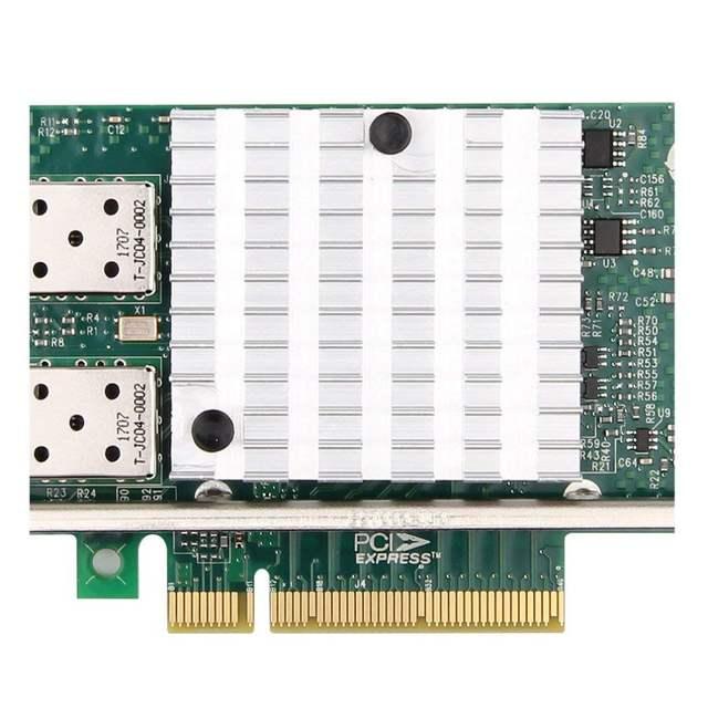 10Gtek for Intel E10G42BTDA 82599ES Chip 10GbE Ethernet Converged Network  Adapter X520-DA2/X520-SR2, PCI-E X8, 2 Dual SFP+ Port