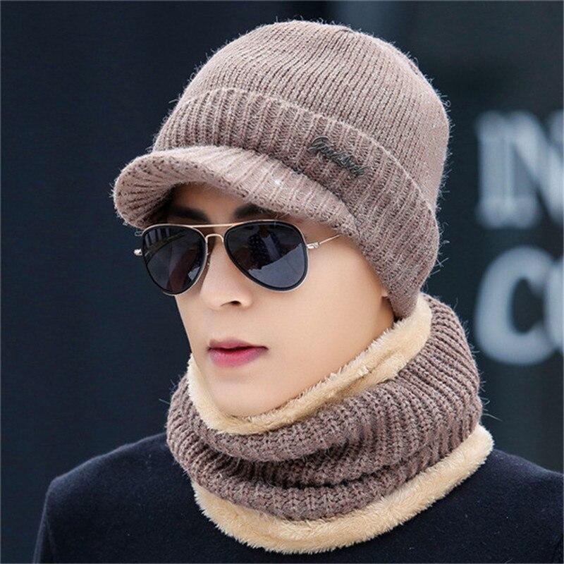 New Letter Wwarm Plush Head Wear Beanies Scarf Two Pc Sets