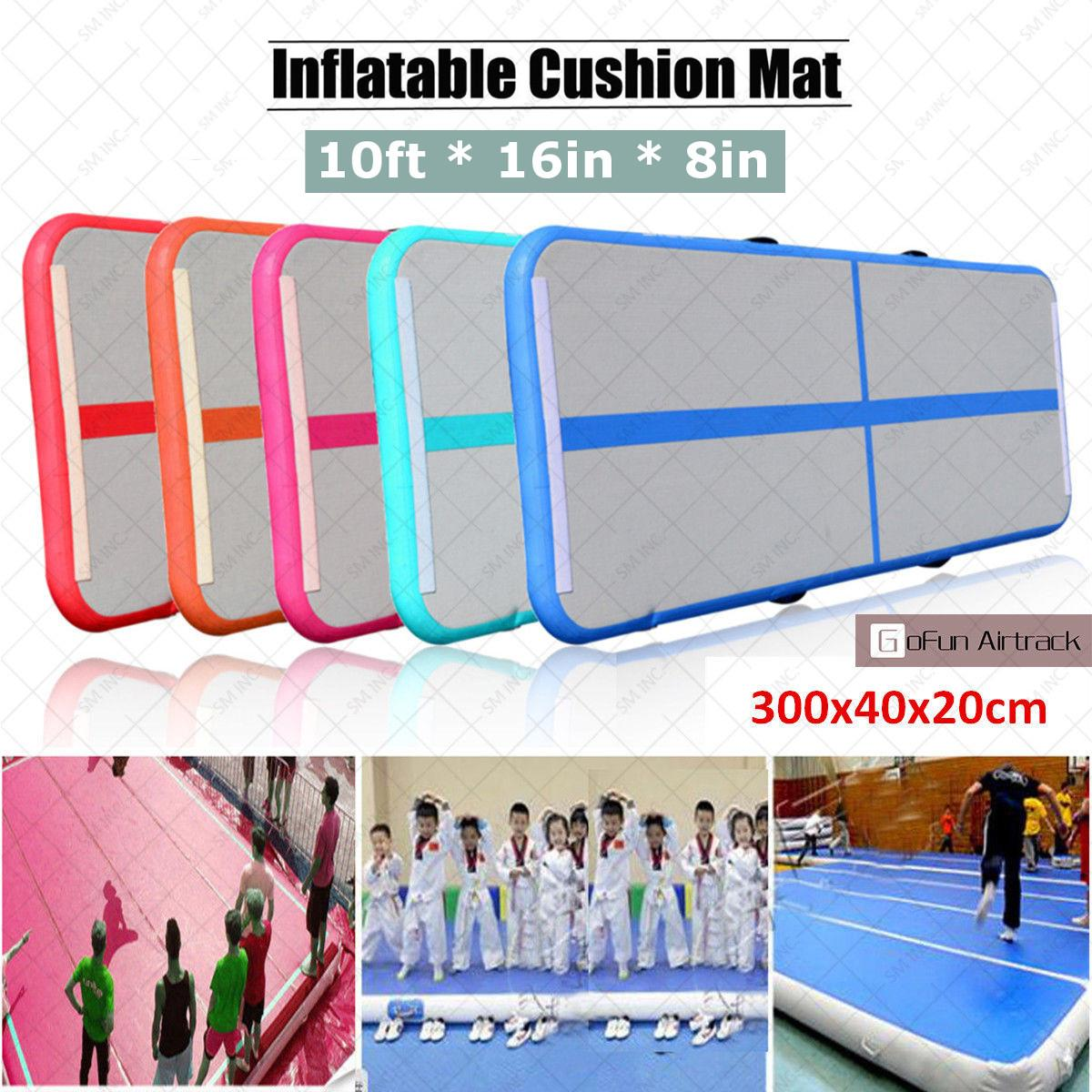 HOT Inflatable Air Track Tumbling Floor Gymnastics Practice Training Pad GYM Mat high quality 4 1 0 2m inflatable air track gymnastics air track trampoline for water games
