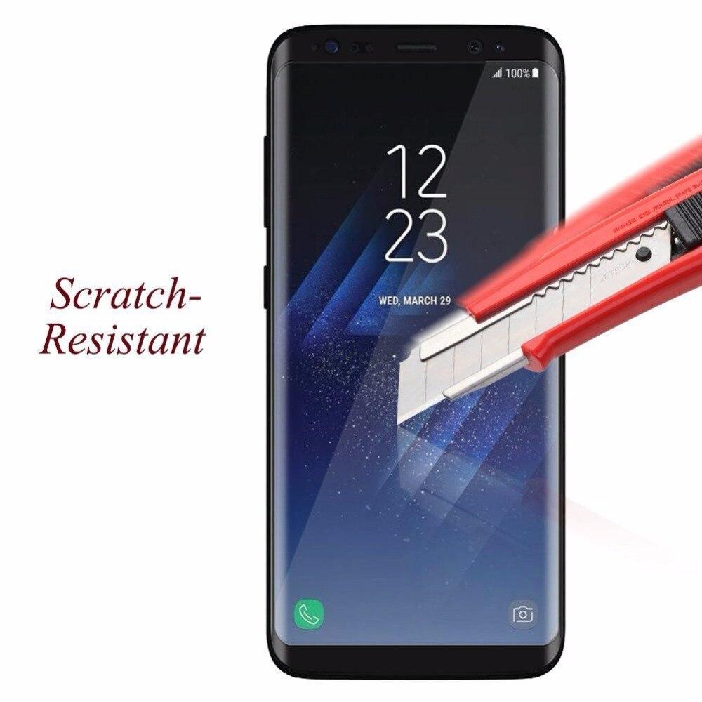 50 pcs 3D couverture complète verre trempé pour Samsung Galaxy S8 S8 Plus S7 bord verre incurvé pour Samsung Note8 S9 Plus protecteur d'écran