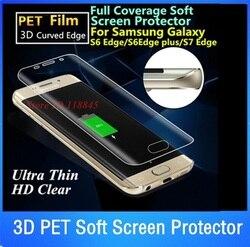 10 개 3D 곡선 가장자리 애완 동물 부드러운 전체 화면 보호기 삼성 갤럭시 S7 가장자리 S6 가장자리 플러스 S8 플러스 전체 커버 보호 필름