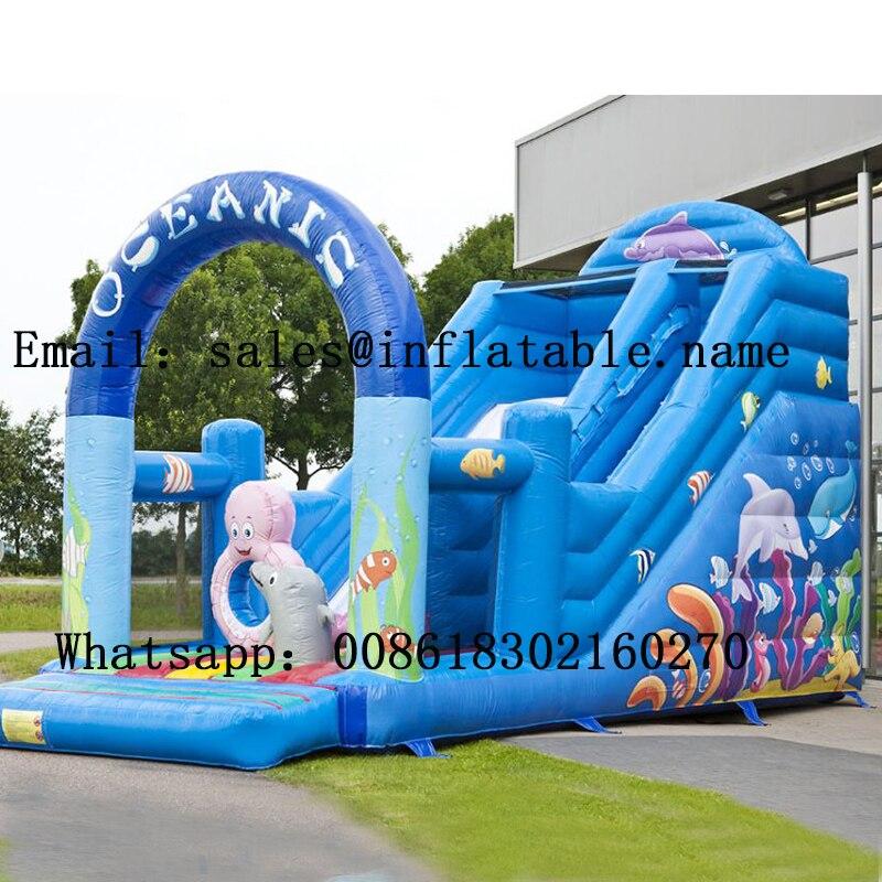 Glissière commerciale de PVC de glissières gonflables avec le ventilateur pour la glissière d'enfants