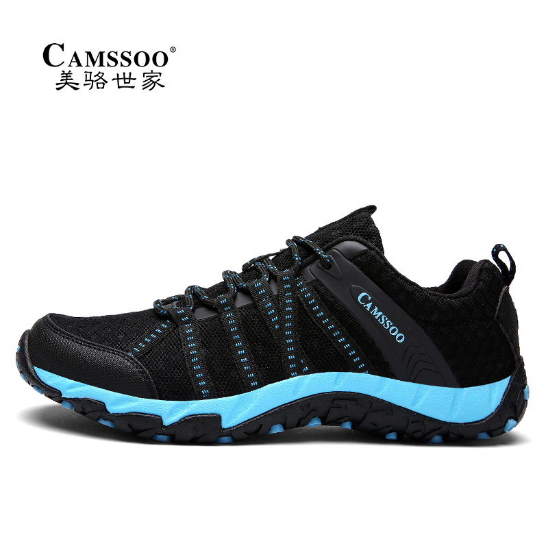 Camssoo Mountain Camping Shoes for Men Women Mesh Breathable Upstream Shoes Quick-drying Outdoor Hiking Sneakers 3028 shanghai kuaiqin kq 5 multifunctional shoes dryer w deodorization sterilization drying warmth
