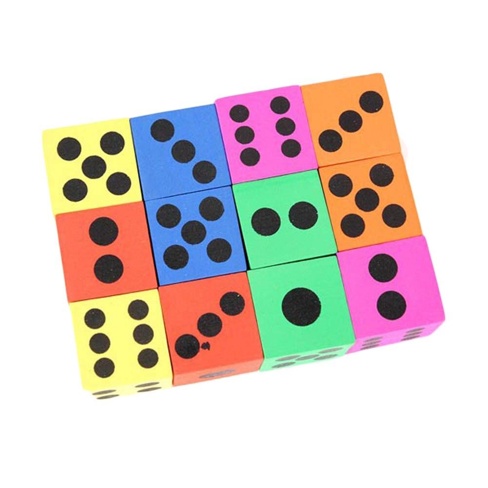 12 pcs/set Combination Of Eva Foam Dice Blocks Children Toys Educational Pop for Game Gaming Children Adult Gift Cubes