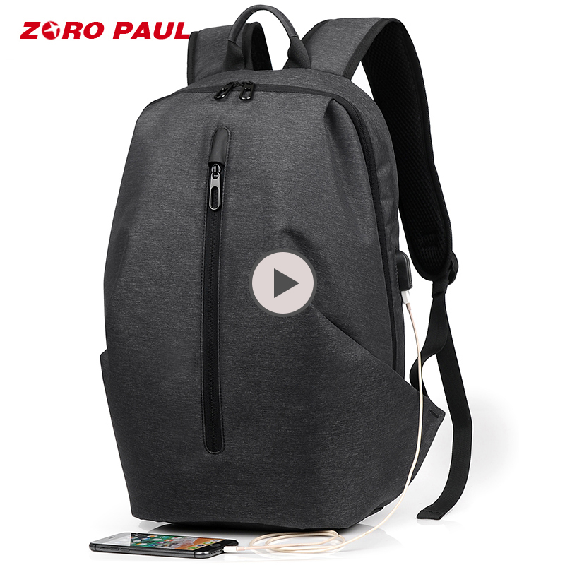 ZORO PAUL USB Charging 15.6 inch Laptop Backpack Men Travel Back pack Backpack Schoolbag for Boy Male Anti Theft Bagpack Bookbag fashion men waterproof anti theft laptop backpack usb charging large back pack travel school bags bagpack for male boy