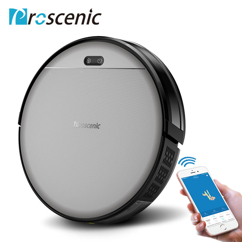 Proscenic 800T Robot Vacuum Cleaner Automatic Sweeping Dust Mopping Mobile App Remote Control Planned Robotic Vacuum 3 In 1