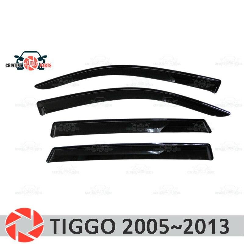 Deflector janela para Chery Tiggo 2005 ~ 2013 chuva defletor sujeira proteção styling acessórios de decoração do carro de moldagem