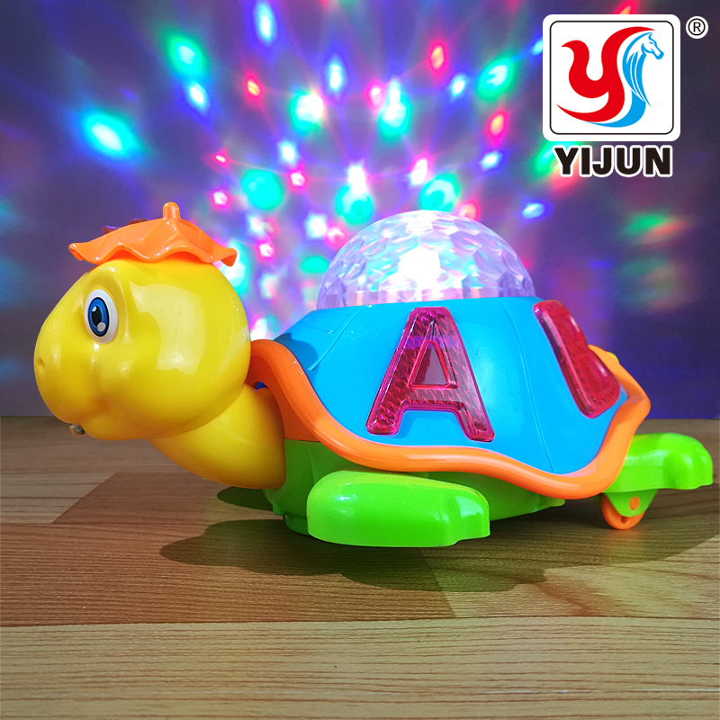 Baby Toy Cartoon LED Light Music Universal Electric Flash 3D Lights Children's Sports Toy Crawl Turtle Perfect Birthday Gifts