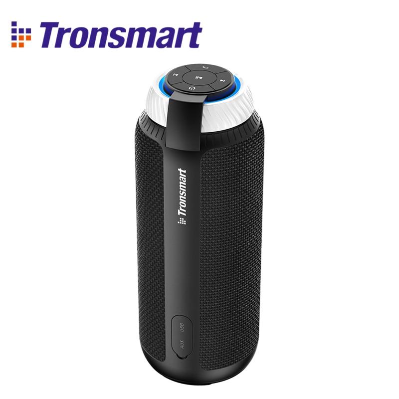 Tronsmart Element T6 Bluetooth Speaker 25W Portable Speaker with 360 Stereo Sound Soundbar Column for Music MP3 Player international edit tronsmart element groove bluetooth speaker column ipx7 waterproof soundbar portable speakers for the computer