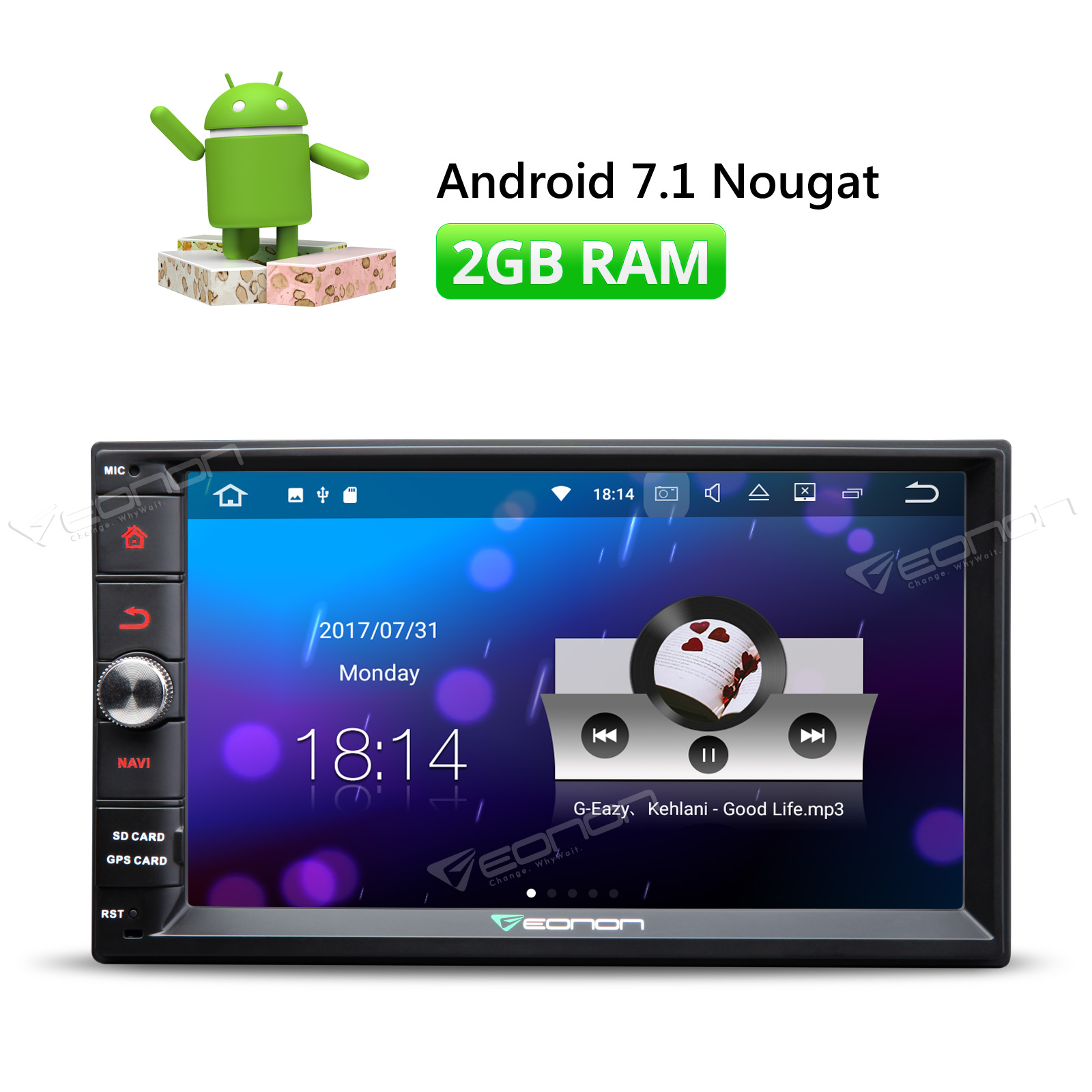 GPS Radio Head Unit BT DAB OBD 4G Wifi +CAMERA: US Eonon 2 Din Android 7.1  ... 1 DIN 7' Android 6.0 Car Radio Stereo GPS WiFi 3G .