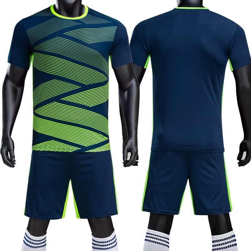 449c46b23 Kids Adult blank Soccer Jersey Set survetement Football Kit Futbol shirts  shorts Suit customized 18/