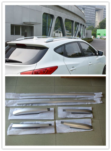TEAEGG Top Roof Rack Side Rails Luggage Carrier For Hyundai Tucson IX35 2010-2014 partol universal car roof rack cross bars crossbars with anti theft lock 60kg 132lbs cargo basket carrier snowboard luggage top