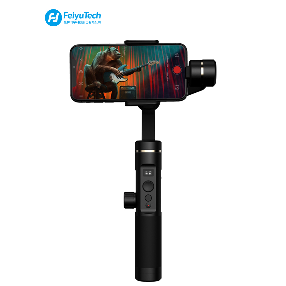 FeiyuTech SPG 2 Set 3-Axis Handheld Gimbal Stabilizer for Smartphone iPhone X 8 7 OPPO Samsung ViVO phones with tripod