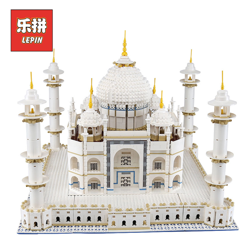 LEPIN 17008 Famous City Building the taj mahal Model Set Educational Building Kits Blocks Bricks 10189 Creative Toy Children lepin 02078 city bus station 60154 model building kits blocks bricks 60154 educational enlighten children toy birthday gift