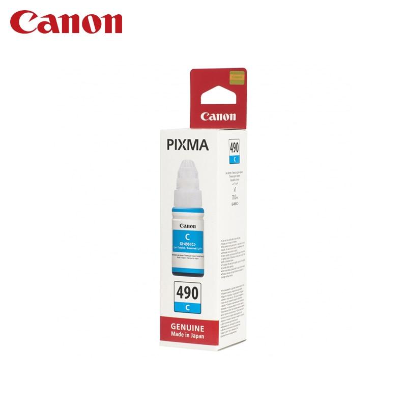Cartridge Canon GI-490 C (for G1400/G2400/G3400) картридж canon gi 490 c cyan для pixma g1400 g2400 g3400