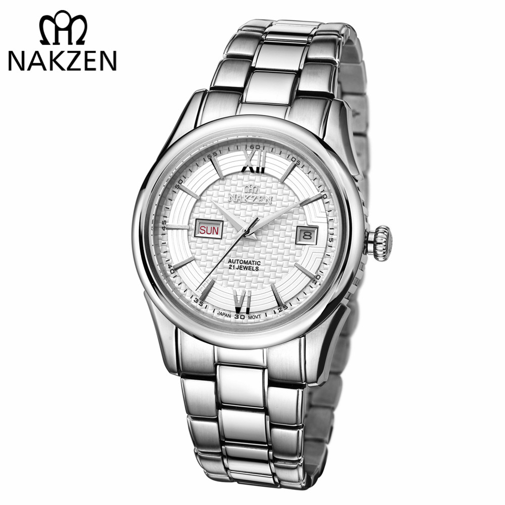 NAKZEN Men Automatic Mechanical Miyota 8205 Movement Watch Sapphire Calendar Wristwatch Man 10Bar waterproof Relogios masculinos кроссовки asicstiger asicstiger as009aujhk94