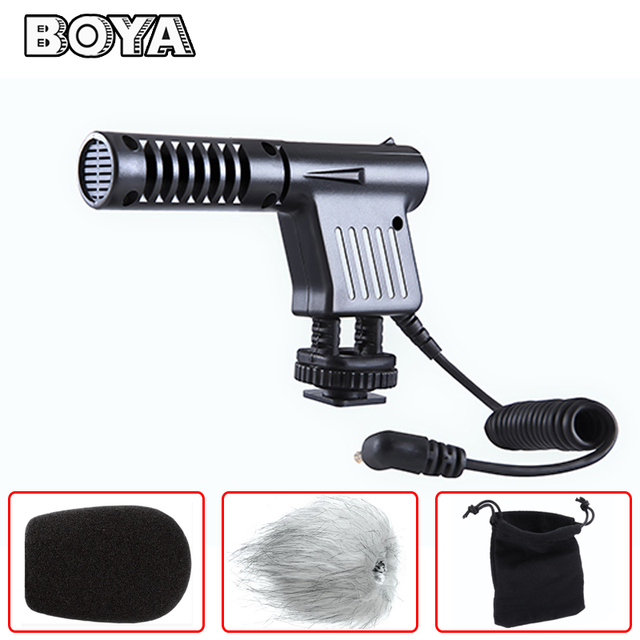 BOYA BY-VM01 Mini Shotgun Condenser Microphone for Nikon Canon Sony Pentax Panasonic Digital SLR Camera DV Camcorder Video Mic