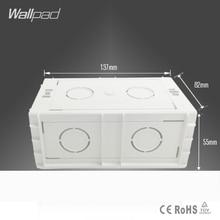 Стандарт Великобритании 146 адрель 137*82*55 мм кассета универсальная Белая настенная коробка для 146*86 мм настенный переключатель и гнездо задняя коробка