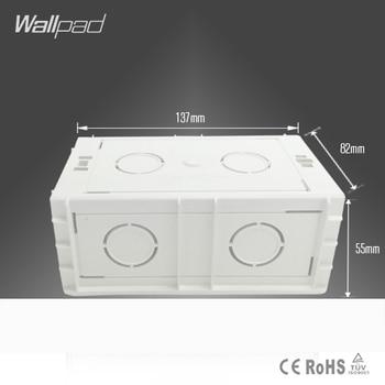UK 146 Standard Wallpad 137*82*55MM Cassette Universal White Wall Mount Box for 146*86mm Wall Switch and Socket Back Box
