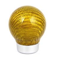 X Autohaux Yellow Carbon Fiber Ball Head Gear Shift Knob Cover Protector 5Mm Dia