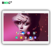 Hot sales 10.1 inch Octa Core 3G 4G LTE Tablet PC Android 6.0 RAM 4 GB ROM 64 GB Dual Sim-kaart Bluetooth GPS Tabletten 10 10.1 + Geschenken