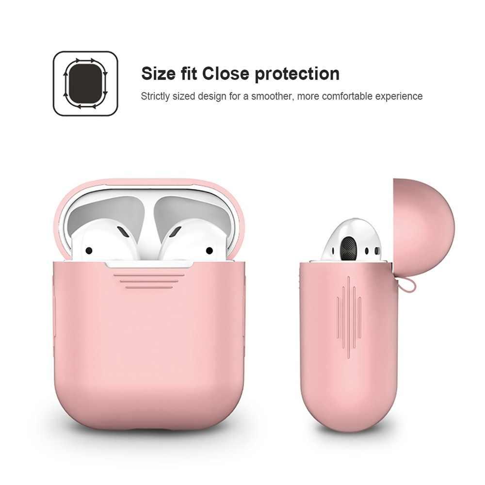 Briame TPU silikonowa bezprzewodowa Bluetooth etui na słuchawki dla AirPods pokrywa ochronna skóry akcesoria dla Apple Airpod okno ładowania