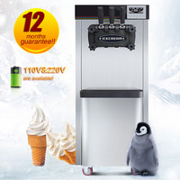 Soft ice cream maker GMCC Compression Refrigerant R410A with automatic cleaning function USA stock