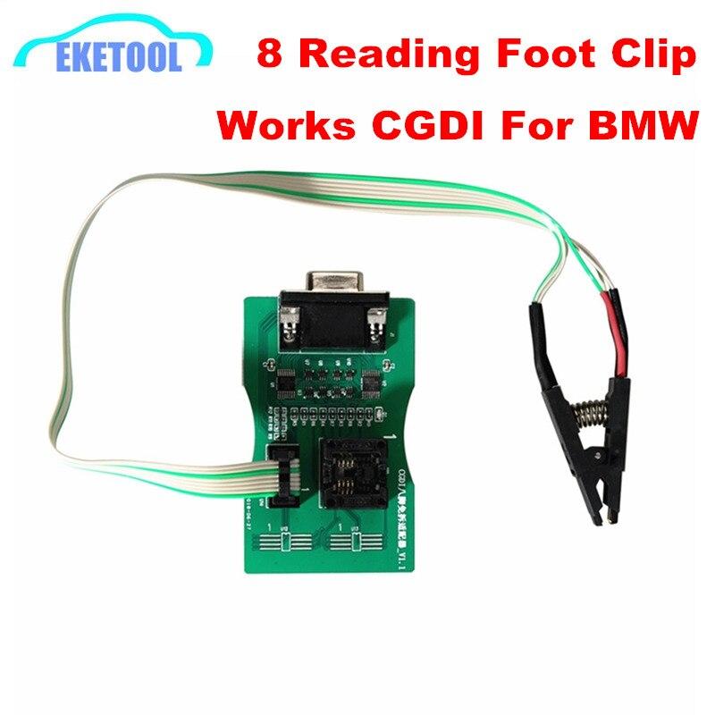 Lecture 8 broches adaptateur Exempt FEM/BDC lecture 8Pin carte EEPROM fonctionne CGDI Prog pour BMW & XPROG 5.60/5.70/5.74/5.84/UPA programmeur USB