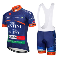 2018 Blue TEAM VINI Cycling Jersey Gel Bike Shorts Set SOBYCLE Ropa Ciclismo Mens Summer Quick