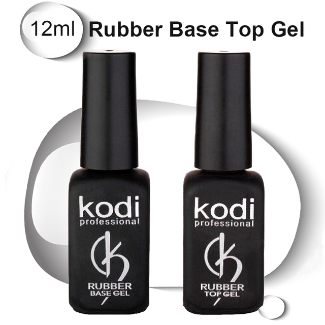 Kodi nail top UV Resin Base Gel Rubber nail Coat 12ml LED Varnish ...