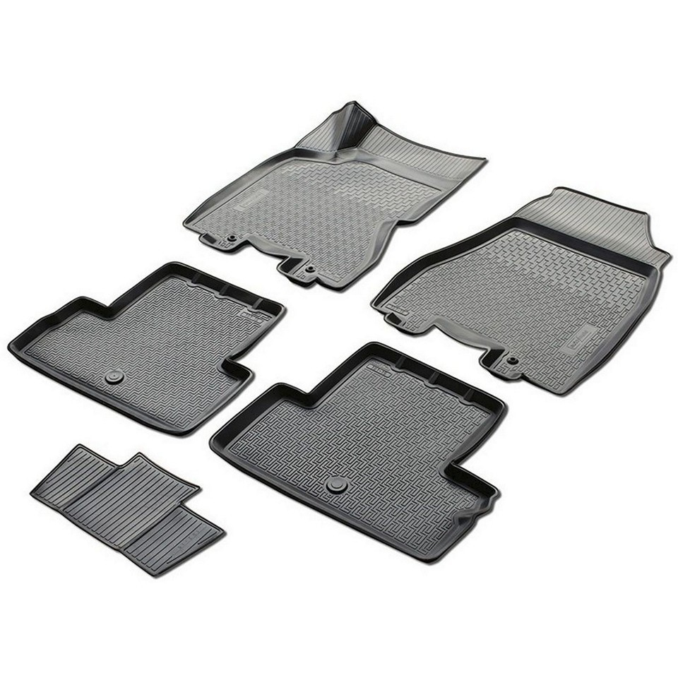 3D floor mats into saloon for Nissan X-Trail T31 2011-2014 5 pcs/set (Rival 14109002)