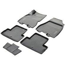 Tapis de sol 3D en berline pour Nissan x-trail T31 2011-2014 5 pièces/ensemble (Rival 14109002)
