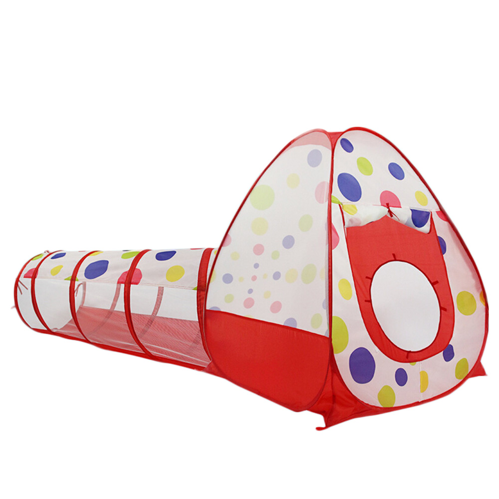 Foldable Children Tent Play Tent Toy For Kids With Lovely Shape Quality Control Tent Tunnel Three - Piece