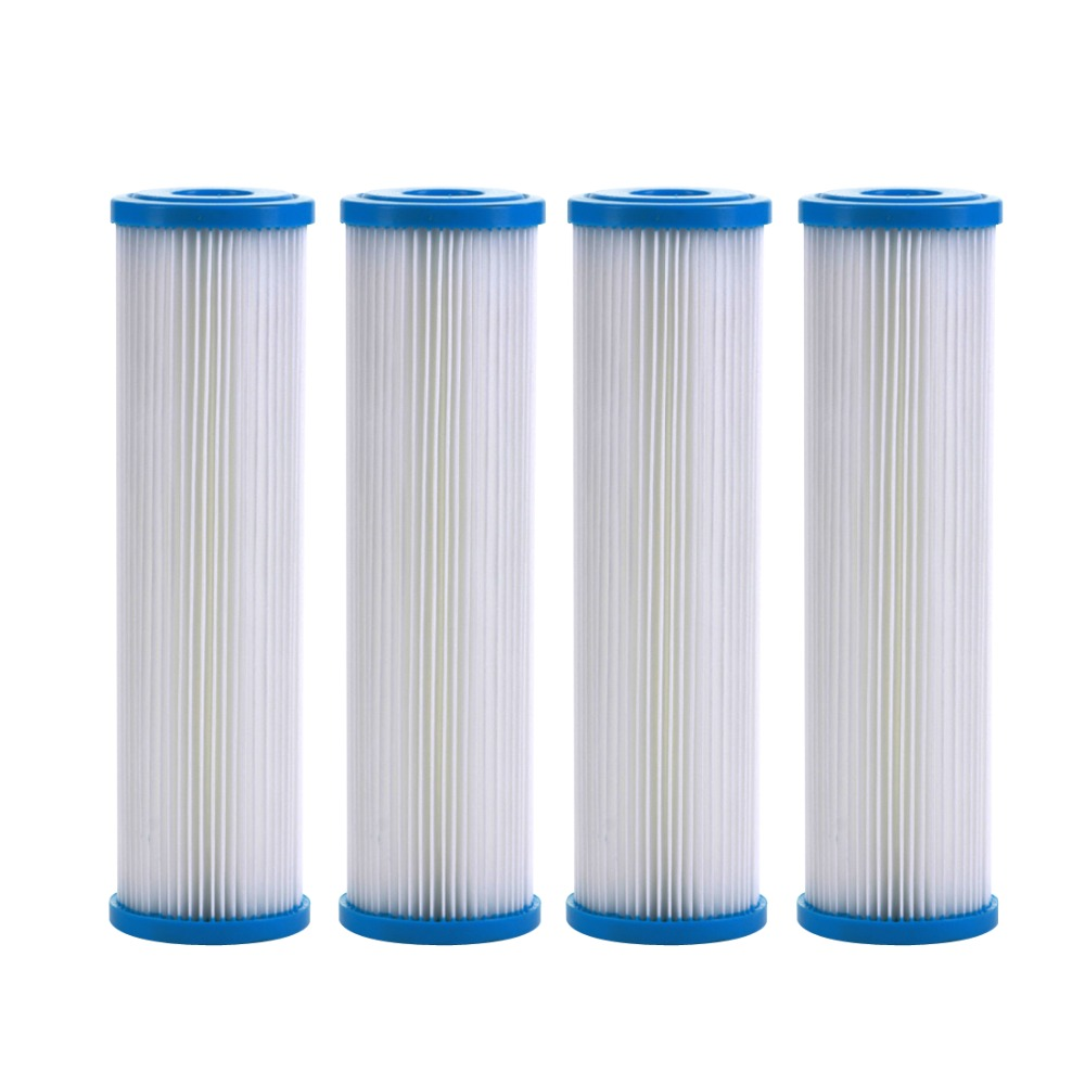 4-PACK Of 5 μm Whole House Sediment Pleated Water Filter 2.5 x 10