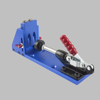 2018 Woodworking Guide Carpenter Kit System Inclined Hole Drill Tools Clamp Base Drill Bit Kit System